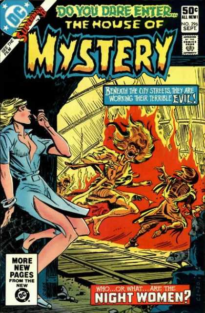 House of Mystery 296 - Streets - Evil - Fire - Night Women - What - Carmine Infantino