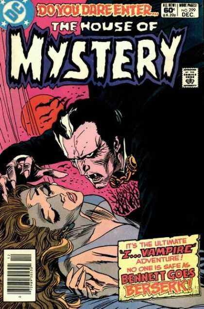 House of Mystery 299 - Bats - Dracula - Vampire - Fangs - Woman - Joe Kubert