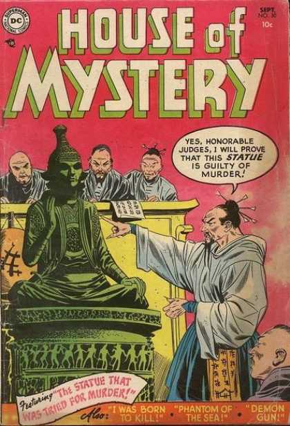 House of Mystery 30 - Dc Comics - Statue - Jedges - The Statue That Was Tried For Murder - I Was Born To Kill
