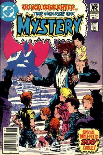 House of Mystery 300 - Dc - Smoke - Full Moon - Warewolf - Cemetary - Michael Kaluta