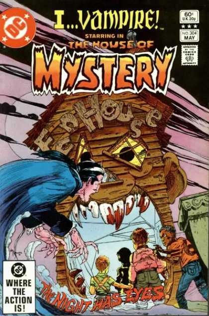 House of Mystery 304 - Ivampire - Funhouse - Teeth - The Night Has Eyes - Children - Michael Kaluta