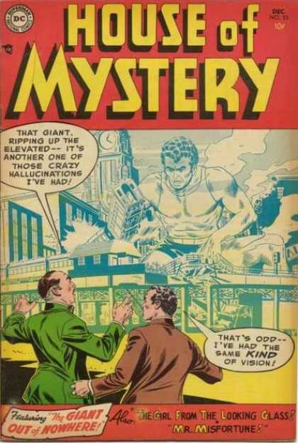 House of Mystery 33 - Giant - Train - Dc - Dec - No32
