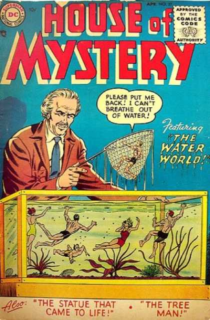 House of Mystery 37 - Biological Anomalies - Water World - Tree Man - Statue That Came To Life - Sea Monkeys - Murphy Anderson