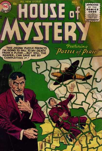 House of Mystery 44 - All New Stories - Puzzle - Predicts - Peril - Plane