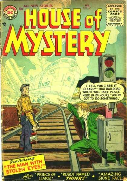 House of Mystery 47 - Stoplight - Ghost Train - Train
