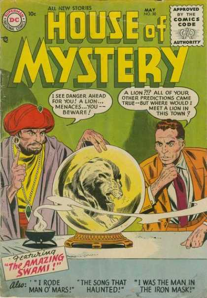 House of Mystery 50 - Superman National Comics - All New Stories - Comics Code - Ball - Mage