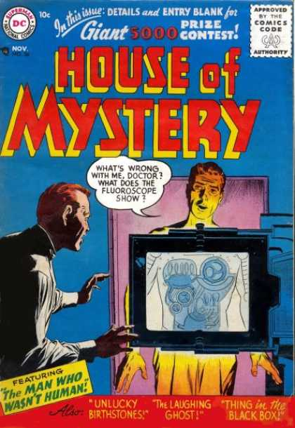 House of Mystery 56 - Dc Comics - Sentient House - Supernatural-themed Mystery Stories - Science-fiction - Dc Universe