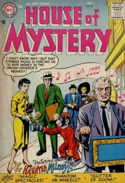 House of Mystery 58 - Monkey - Money - Organ Grinder - Music Notes - Purse