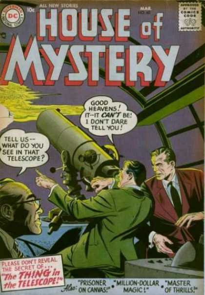 House of Mystery 60 - Telescope - Diamond - The Thing In The Telescope - Prisoner On Canvas - Million-dollar Magic