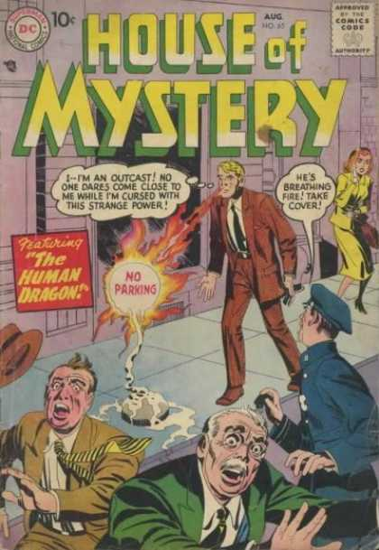 House of Mystery 65 - Fire - Running - Jack Kirby