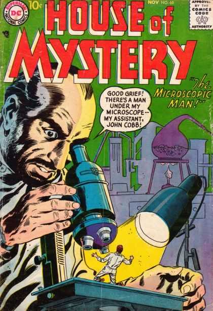 House of Mystery 68 - The Microscopic Man - Good Grief - My Assistant - John Cobb - Laboratory