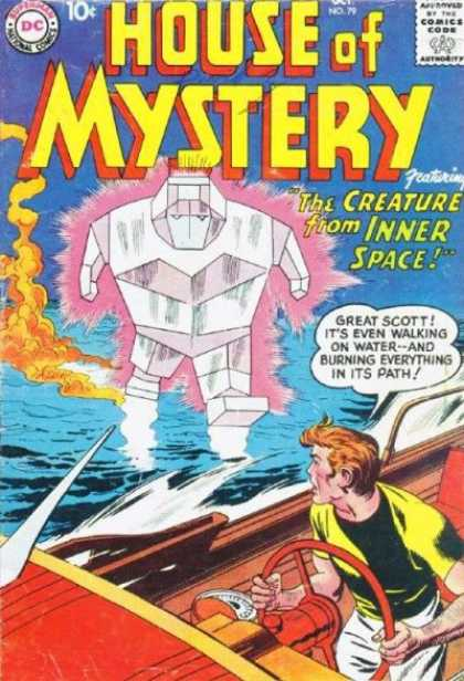 House of Mystery 79 - Dc Comics - The Creature From Inner Space - Walking On Water - Great Scott - Silver Age - Jack Kirby