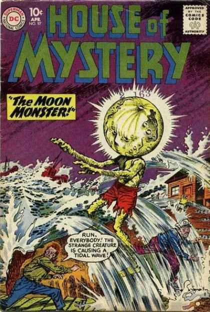 House of Mystery 97 - People - Dc - April - The Moon Monster - 10 Cents