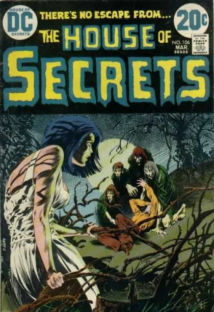 House of Secrets 106 - Zombies - Swamp - Undead - Full Moon - Woman - Bernie Wrightson