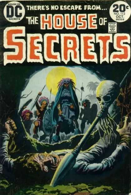 House of Secrets 112 - Natives - Skull - Spear - Dc - No Escape - Luis Dominguez