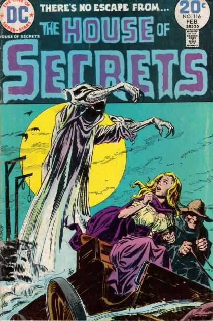House of Secrets 116 - Dc - Theres No Escape From - Ghost - Graveyard - People - Luis Dominguez