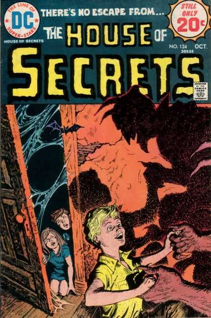 House of Secrets 124 - Bat - Dc - 20 Cents - October - Devil Horns