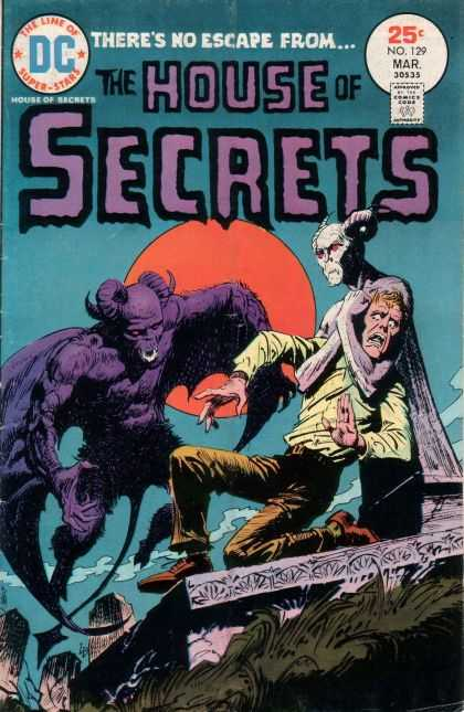House of Secrets 129 - Moon - No Escape - Monster - Super Stars - Death - Luis Dominguez