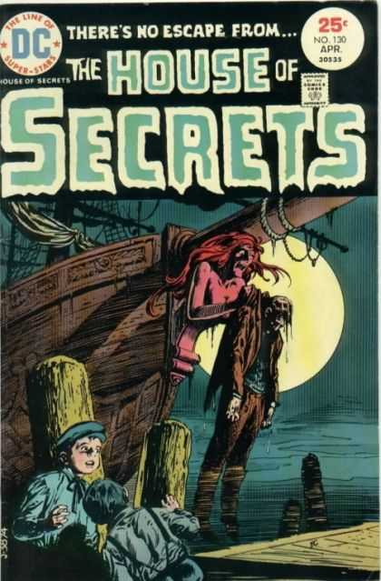 House of Secrets 130 - Ship - Moon - Boys - Ghost - Night