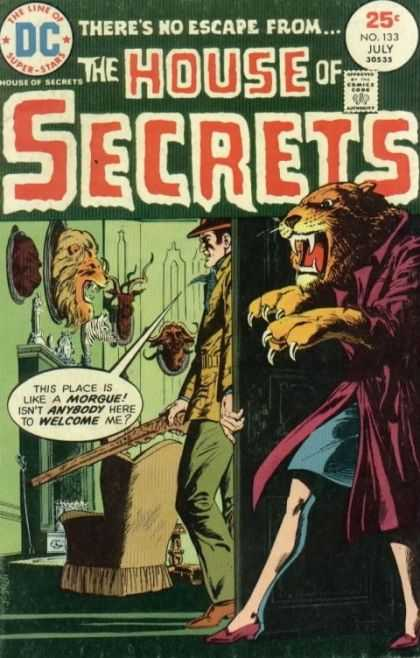 House of Secrets 133 - Morgue - Theres No Escape From - The Line Of Superstars - Dc - Approved By The Comics Code Authority