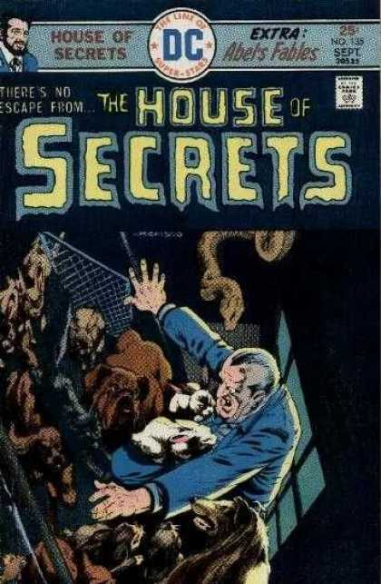 House of Secrets 135 - Dogs - Abels Fables - No Escape - Fence - Trapped - Bernie Wrightson