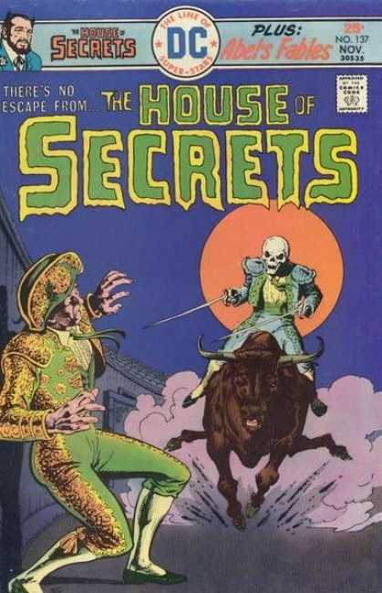 House of Secrets 137 - Matador - Skeleton - Sword - Charging Bull - Orange Moon - Ernie Chan