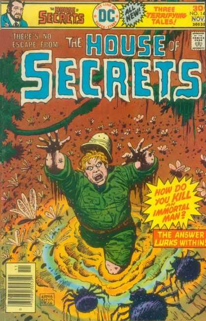 House of Secrets 142 - Theres No Escape From - Three Terrifying Tales - Dc - The Answer Lurks Within - How Do You Kill An Immortal Man
