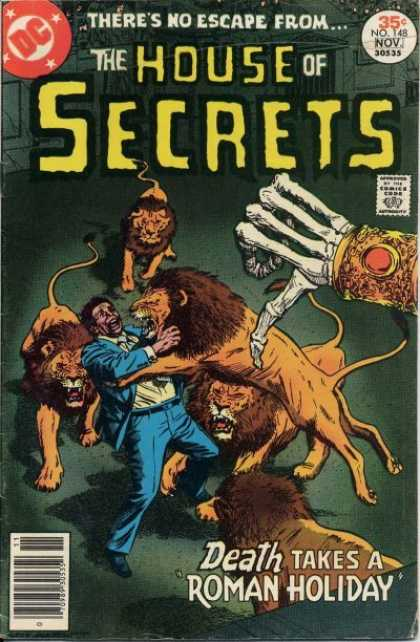 House of Secrets 148 - Lions - Death - Dc - Hand - No Skin - Gray Morrow