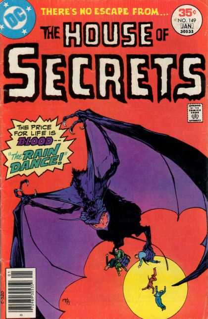 House of Secrets 149 - Bat - Moon - Blood - Rain Dance - Theres No Escape From - Michael Kaluta