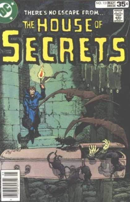 House of Secrets 151 - Bats - Coffin - Torch - Michael Kaluta