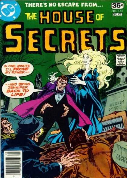 House of Secrets 153 - Graveyard - Cemetery - Cross - Coffin - Moon - Jim Aparo