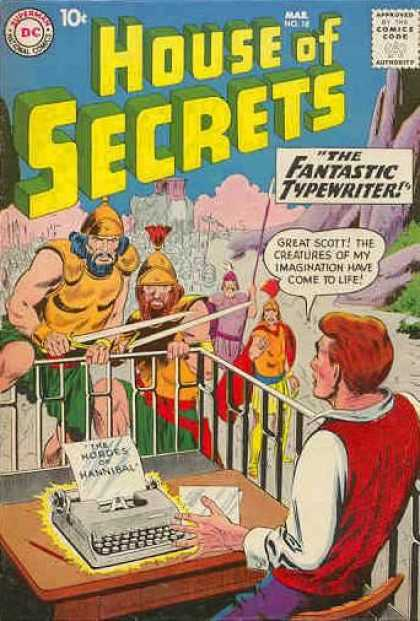 House of Secrets 18 - Dc - Dc Comics - Fantastic Typewriters - Imagination - Secrets