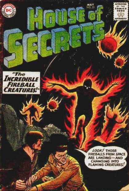 House of Secrets 20 - Fireball Creatures - Flames - Fire Vs Flesh - Space - Monsters