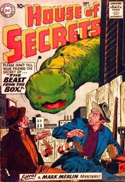 House of Secrets 24 - Beast From The Box - Mark Merlin - Mystery - Sandwich - Drink - Sheldon Moldoff