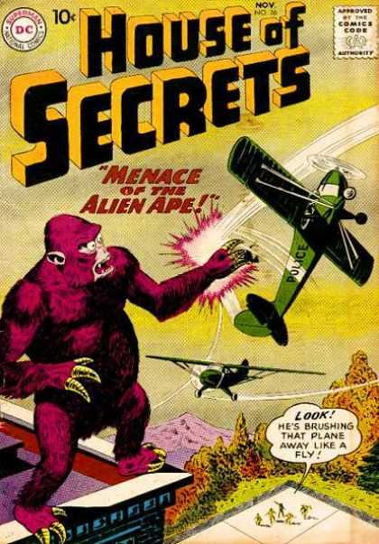 House of Secrets 26 - Gorilla - Airplane - Allien Ape - Mountain - Police - Sheldon Moldoff