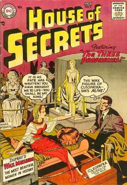 House of Secrets 3 - Wax Museum - Fate Has Written - You Shall Be My King - The Three Prophecies - Cleopatra - Jack Kirby