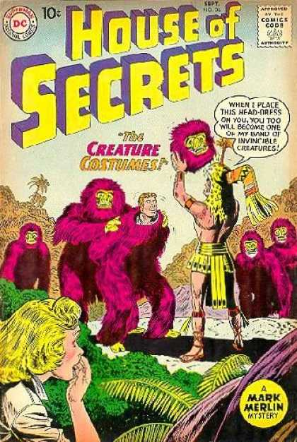 House of Secrets 36 - Costumes - The Creature Costumes - Gorrillas - Dc - Mark Merlin - Sheldon Moldoff