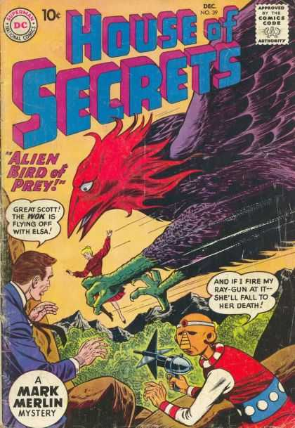 House of Secrets 39 - Ray-gun - Wok - Elsa - Alien Bird - Mark Merlin - Sheldon Moldoff