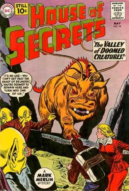 House of Secrets 44 - Monster - Creature - Attack - Aliens - Strange - Sheldon Moldoff