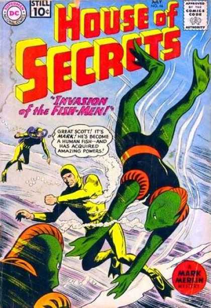 House of Secrets 46 - Deepsea - Bubbles - Man - Fighting - Oxygen - Sheldon Moldoff
