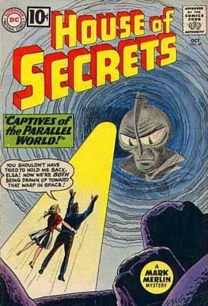 House of Secrets 49 - Alien - Captives Of The Parallel World - Man - Woman - Mark Merlin - Sheldon Moldoff