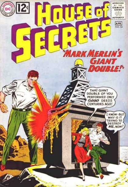 House of Secrets 53 - No 33 - Mark Merlins Giant Double - Tower - Beach - Woman - Sheldon Moldoff