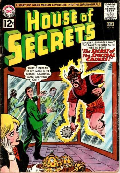 House of Secrets 56 - Mirror - Mark Merlin - The Secret Of The Spectral Crimes - Reflection - People - George Roussos
