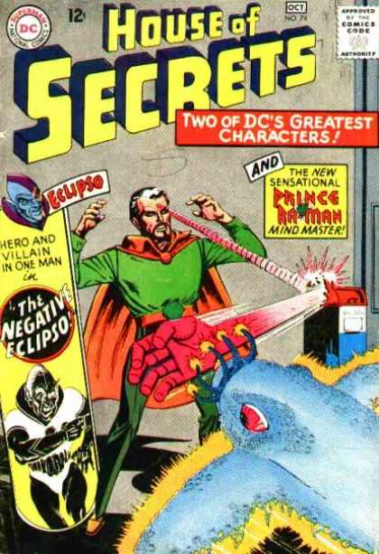House of Secrets 74 - Prince Batman - Mind Master - The Negative Eclipso - Super Hero - Robot