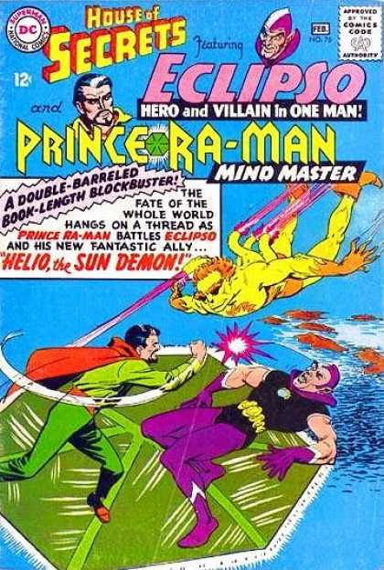 House of Secrets 76 - Mind Monster - Helio The Sun Demon - Eclipso - Yellow Monster - Ocean