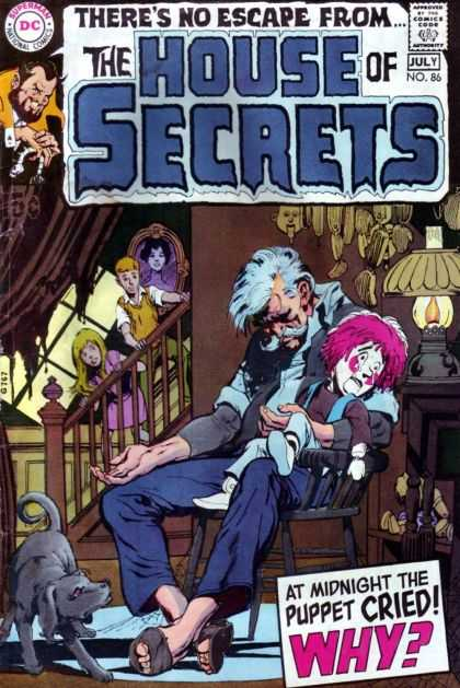 House of Secrets 86 - Approved By The Comics Code Authority - Dc - Superman - National Comics - Puppet Cried - Neal Adams