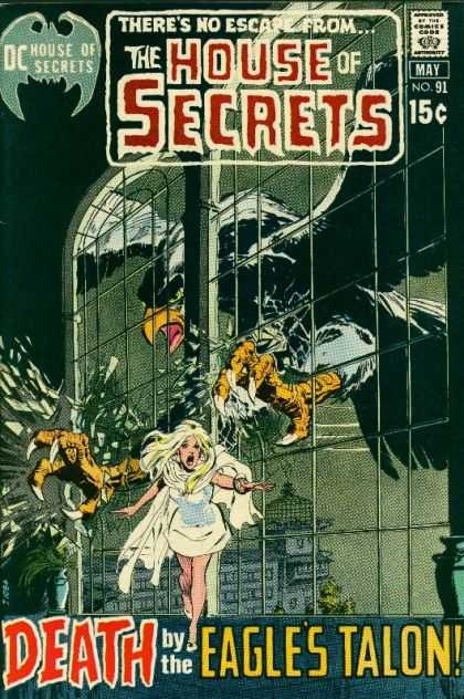 House of Secrets 91 - Dc Comics - May No 91 - Death By The Eagles Talon - Giant Eagle - Black Eagle - Neal Adams