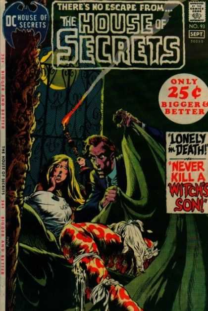 House of Secrets 93 - Dc - Approved By The Comics Code Authority - Escape - Lonely In Death - Witchs Son - Bernie Wrightson