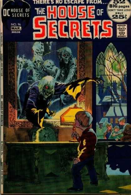 House of Secrets 96 - 52 Big Pages - Dc - Mar - Approved By The Comics Code Authority - Theres No Escape From - Bernie Wrightson