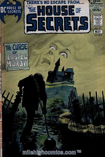 House of Secrets 97 - Chain - The Curse Of Castle Morby - Comics Code - Face - Man